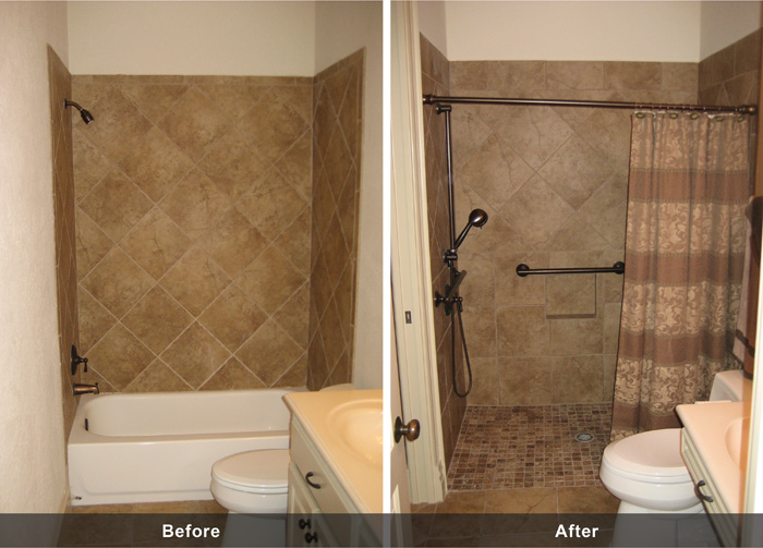 Ada remodeling houston handicap modifications for How to build a wheelchair accessible shower