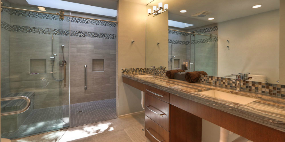 CURBLESS SHOWER MYTHBUSTERS ADA Remodeling Houston Gorgeous Bathroom Remodel Houston Minimalist